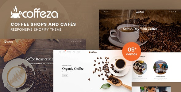 Coffeza - Coffee Shops and Cafés Responsive Shopify Theme - Shopify eCommerce