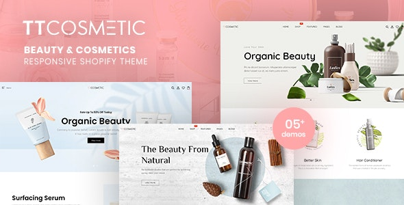 TTCosmetic - Beauty & Cosmetics Shop Responsive Shopify Theme - Shopify eCommerce