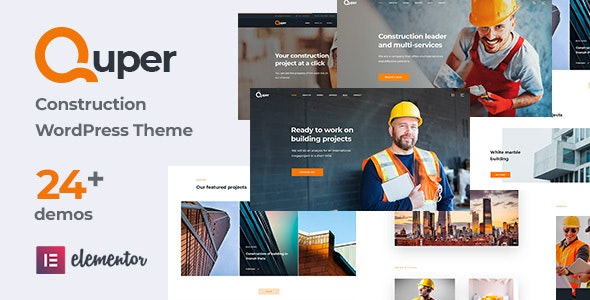 Quper | Construction and Architecture WordPress Theme - Corporate WordPress
