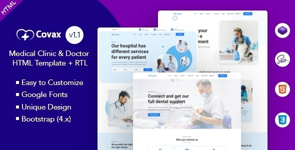 Covax - Medical Clinic & Doctor HTML Template - Health & Beauty Retail