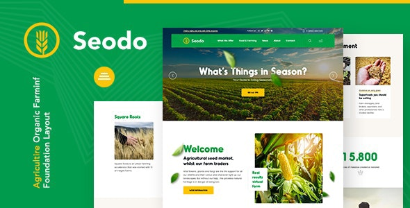 Seodo | Agriculture Farming Foundation Joomla Template - Corporate Joomla
