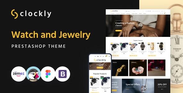 Clockly - Watch and Jewelry Store Responsive PrestaShop Theme - Fashion PrestaShop