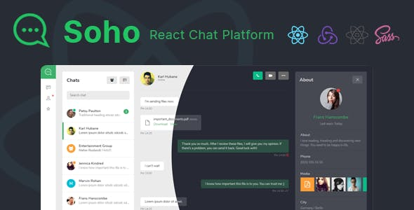 Soho - React Chat and Discussion Platform