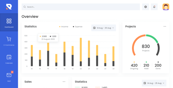 Rockster – Admin Dashboard & UI Kit + Charts Kit Figma Template