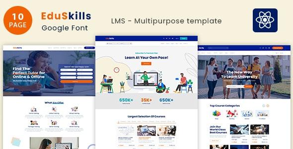 EduSkills - Online Courses & LMS React Template - Miscellaneous Site Templates