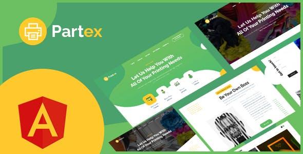 Partex - Printing Services Angular Template