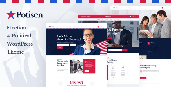 Potisen - Election & Political WordPress Theme - Political Nonprofit