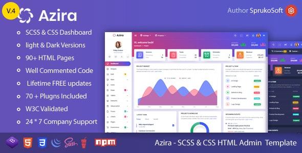 Azira -  Admin Dashboard HTML Template - Admin Templates Site Templates