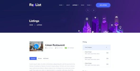 RexList - Directory & Listing PSD Template