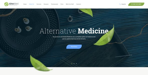 Avicenna | Alternative Folk Medicine Doctor WordPress Theme + Shop