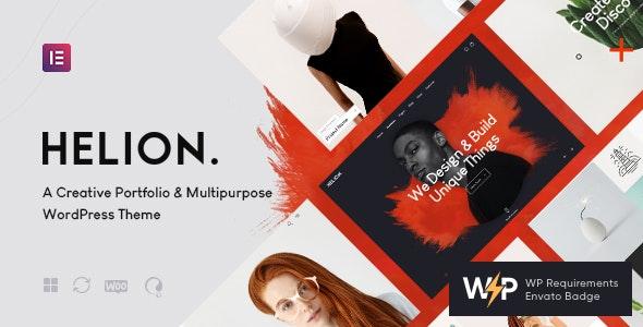 Helion | Personal Creative Portfolio WordPress Theme + Store - Portfolio Creative