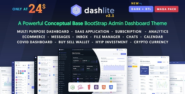 DashLite - Bootstrap Responsive Admin Dashboard Template - Admin Templates Site Templates