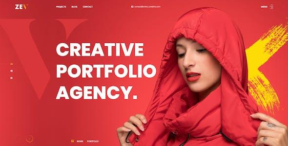 Zev - Creative Personal Portfolio PSD Template.