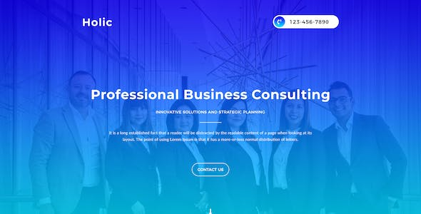 Holic - Lead Generation PSD Landing Page Template