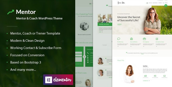 Mentor – Personal Development Coach WordPress Theme - Miscellaneous WordPress