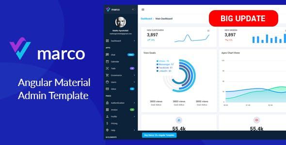 Marco - Angular 10+ Material Design Template