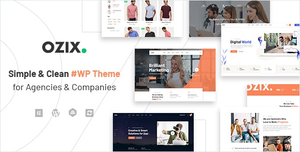 Ozix - Agencies and Companies WordPress Theme - Corporate WordPress