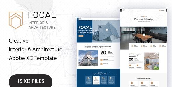 Focal - Exterior Design Adobe XD Template - Portfolio Creative
