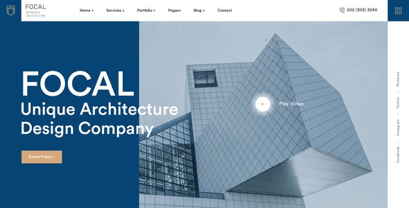 Focal - Exterior Design Adobe XD Template