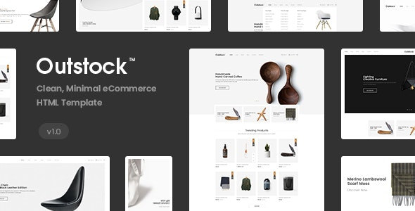 Outstock - Clean Minimal eCommerce HTML5 Template - Shopping Retail