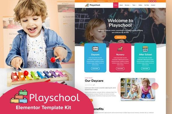 Playschool - Childcare & School Elementor Template Kit - Elementor Template Kits