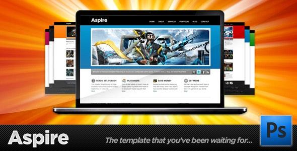 Aspire - Premium PSD - Blog + Portfolio Template - Portfolio Creative