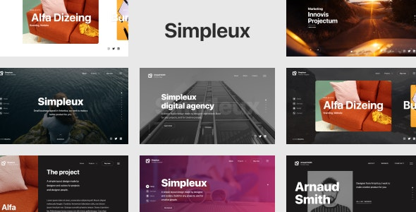 Simpleux - Beautiful Creative Website Template for Agency, Business and Portfolio - Portfolio Creative