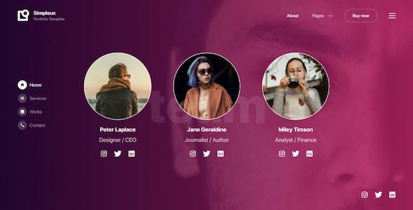 Simpleux - Creative Portfolio Website Template