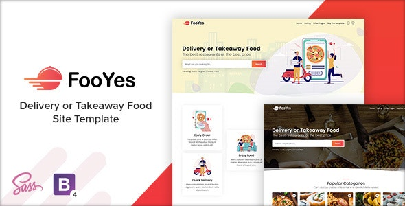 FooYes - Delivery or Takeaway Food Site Template - Food Retail
