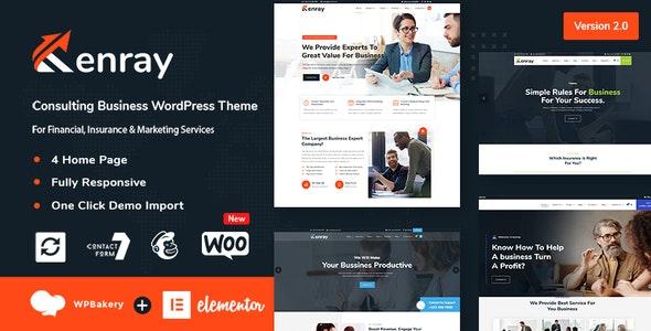 Kenray – Consulting Business WordPress Theme - Corporate WordPress