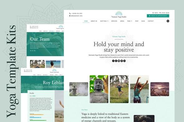 Namaste - Yoga & Fitness Elementor Template Kit - Health & Medical Elementor