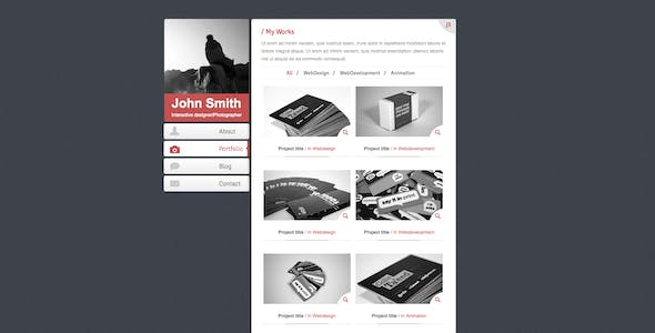 Second Responsive V-card Template