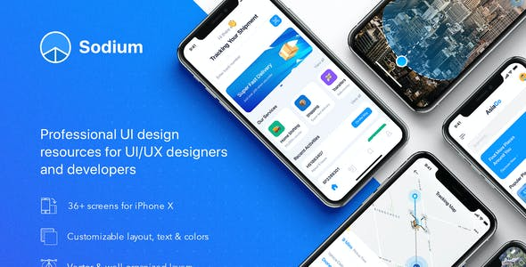 Sodium UI Kit for Adobe XD