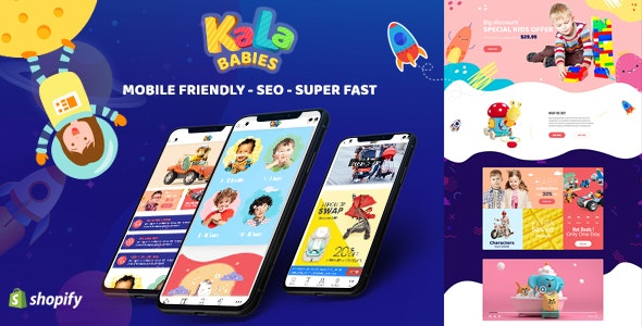 KalaBabies - Kids Store and Baby Shop Shopify Theme - Shopify eCommerce