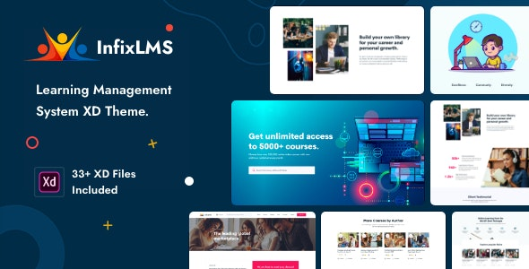 InfixLMS - Learning Management System XD Template - Adobe XD UI Templates