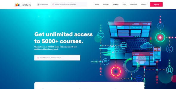 InfixLMS - Learning Management System XD Template