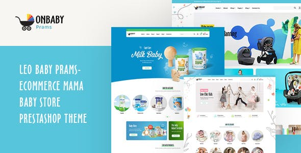 Leo Baby Prams - Ecommerce Mama Baby Store PrestaShop Theme