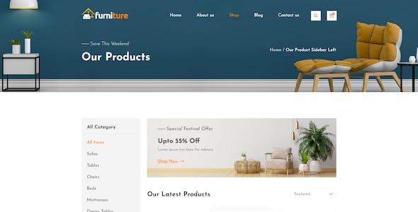 Furniture - Ecommerce Website Design Template