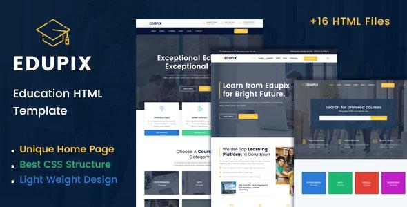 Edupix - Education HTML Template - Nonprofit Site Templates