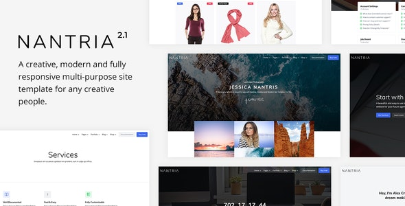 Nantria - Multi-purpose HTML5 Template - Corporate Site Templates
