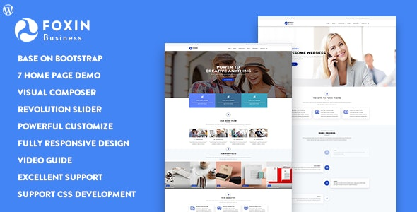 Foxin - Responsive Business WordPress Theme - Business Corporate