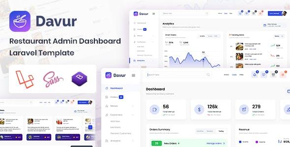 Davur - Laravel Restaurant Admin Dashboard & Bootstrap Template