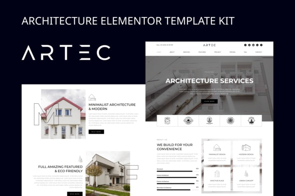 Artec - Architecture Elementor Template Kit - Real Estate & Construction Elementor