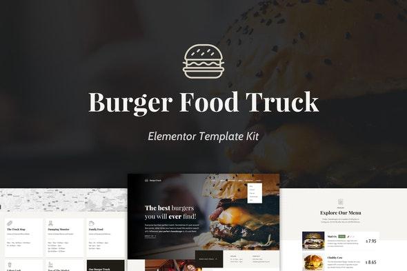Burger Food Truck - Popup Restaurant Elementor Template Kit - Food & Drink Elementor