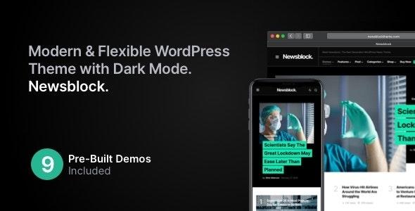 Newsblock - News & Magazine WordPress Theme with Dark Mode - News / Editorial Blog / Magazine