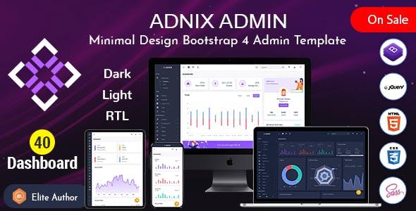 Adnix - Responsive Bootstrap Admin Template Dashboard