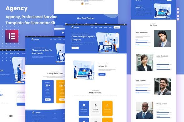 Porto Agency - Creative Digital Business Elementor Template Kit - Business & Services Elementor