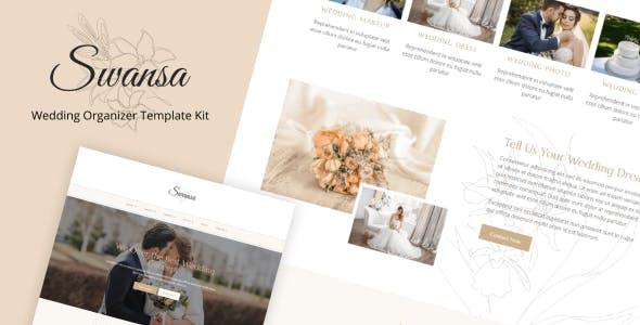 Swansa - Wedding Elementor Template Kit