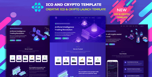 Somia - ICO and Cryptocurrency Template - Technology Site Templates