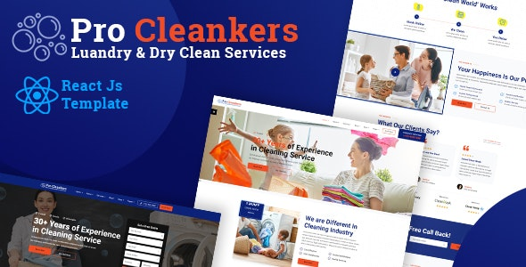 Procleankers | Laundry Dryclean React Template - Business Corporate